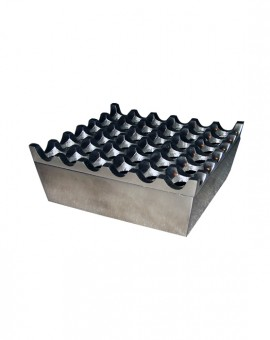 Ashtray Aluminium 36 Holes Silver