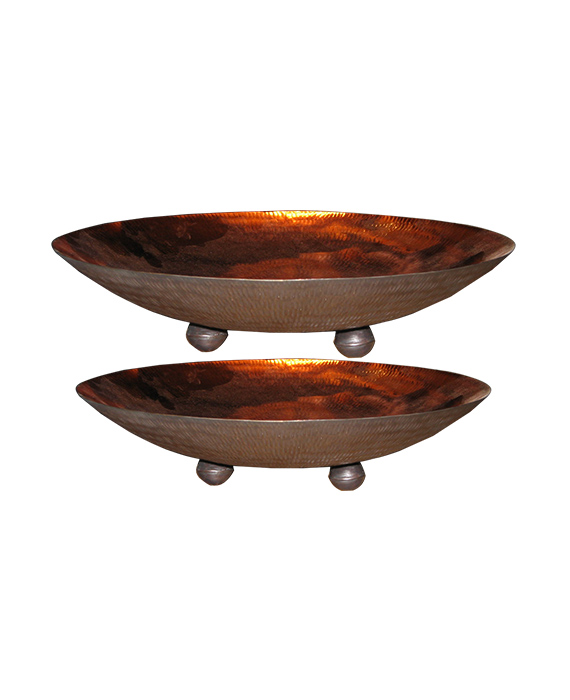 Bowl Copper PLATE with Leg