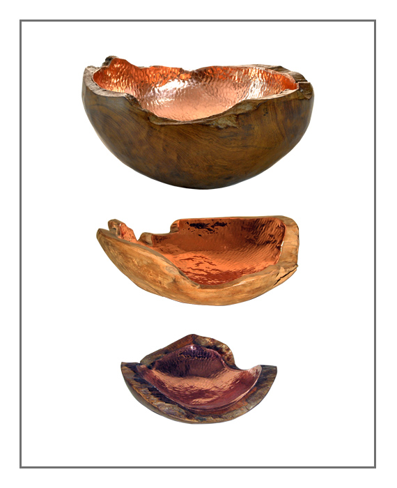 Bowl Wood Copper ALL