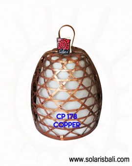 Beautiful Hanging lamp shade made from copper with pattern Parang Batik