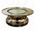 Candle Holder Brass Double STand Nickel Finishing
