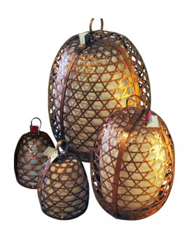 Standing Lamp Chicken Cage COPPER
