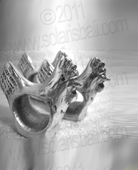 Napkin Ring Aluminium CHICKEN
