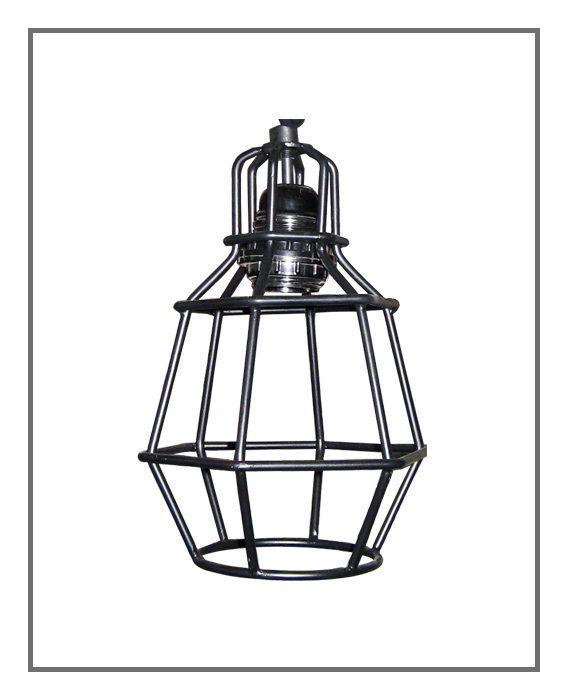 Wire Lamp Iron Industrial